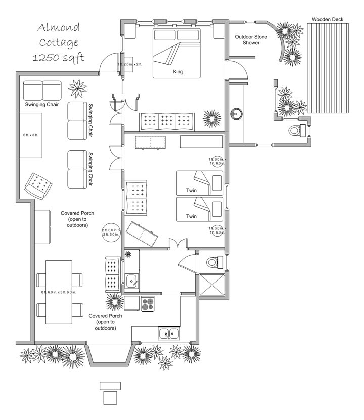 almond cottage floor plan