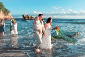 balenbouche st lucia beach wedding