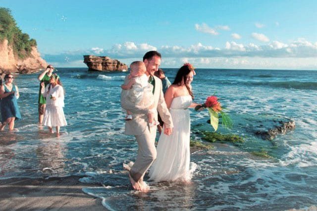 balenbouche st lucia beach wedding