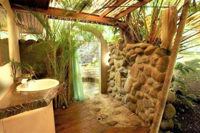 balenbouche st lucia bungalow outdoor shower