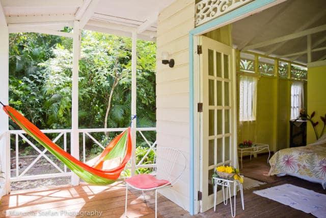 st lucia frangipani cottage hammock