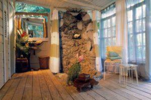 st lucia frangipani cottage bathroom