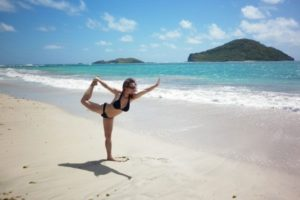 st lucia yoga at sandy beach