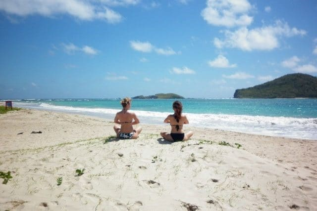 sandy beach yoga st lucia