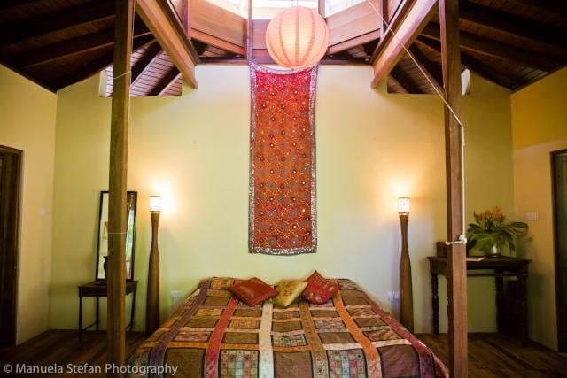 st lucia waterlily cottage bedroom