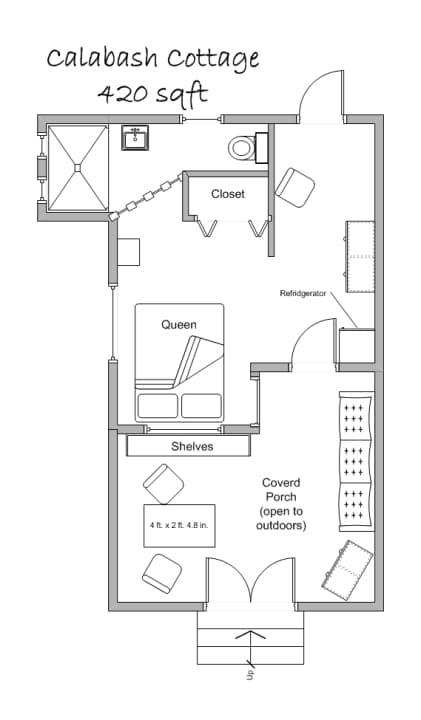 calabash cottage floor plan