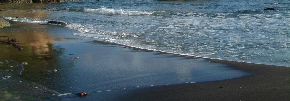 st lucia black sand beach